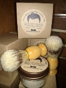 Peppermint Shaving Soap Kit with Shaving Brush
